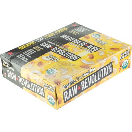 Raw Revolution Organic Food Bar - 12 Bars Golden Cashew, ...