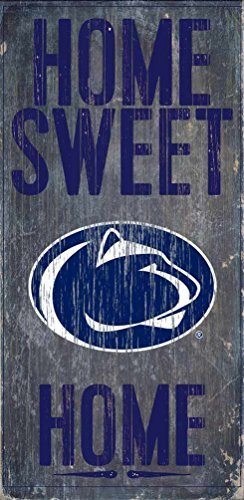 Penn State Nittany Lions Wood Sign - Home Sweet Home 6'x12' by Fan Creations