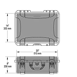 Nanuk 940 Waterproof Hard Case with Padded Dividers - Graphite