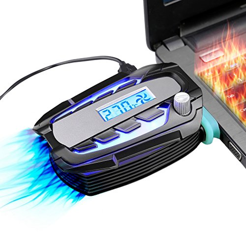 Laptop Cooler Fan with Digital Display,Auto-Temp Detection ,Rapid Cooling,USB Power Supply,Perfect for Gaming Laptop ,Support Various Laptop Size,Black Vacuum Fan