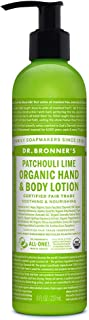 product image for Dr. Bronner's - Organic Lotion (8 Ounce) - Body Lotion and Moisturizer, Certified Organic, Soothing for Hands, Face and Body, Highly Emollient, Nourishes and Hydrates, Vegan (Patchouli Lime)