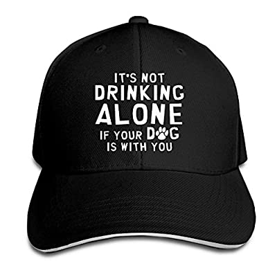 SeeSeasan Its Not Drinking Alone If Your Dog is with You Custom Sandwich Peaked Cap Unisex Baseball Hat