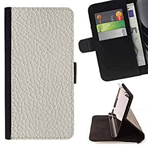 - White Tan Leather Imitation - Estilo PU billetera de cuero del soporte del tir???¡¯????n [solapa de cierre] Cubierta- For Samsung Galaxy S4 Mini i9190 £¨ Devil Case £©