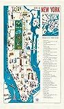 vintage nyc map - Cavallini Papers & Co. City Vintage New York Map Cotton Tea Towel