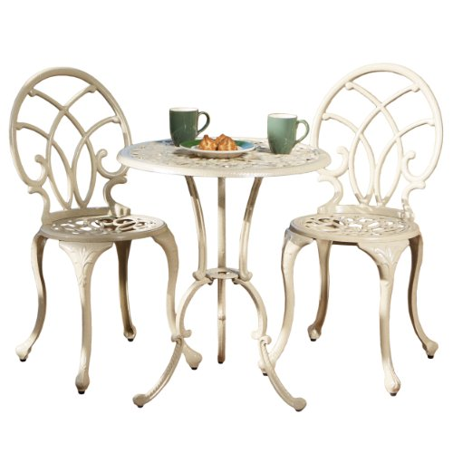 Best Selling Anacapa Cast Aluminum Bistro Set, Sand Finish by Best-selling