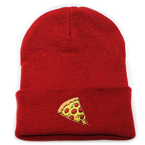 City Hunter Sk901 Pizza Basic Winter Ski Beanie Hats 15 Colors ()