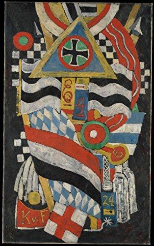 Fine Art Print - Marsden Hartley - Portrait of a German Officer - Vintage Wall Art - 11in x 14in