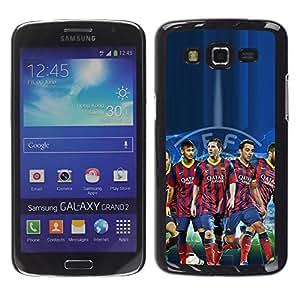 PIG - FOR Samsung Galaxy Grand 2 - Barcelona Soccer Team - Dise???¡¯???€????€????¡Ào para el caso de la cubierta de pl???