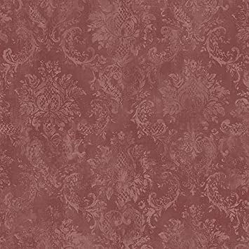 Norwall Sd36106 Canvas Damask Wallpaper Red Wallpaper