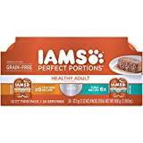 Iams Perfect Portions Grain Free Adult Wet Cat Food Paté Chicken Recipe And Tuna Recipe Variety Pack, (24) 2.6 Oz. Twin-Pack Trays