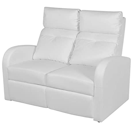 vidaXL Sillón Negro reclinable tapizado Cuero Artificial 2 ...