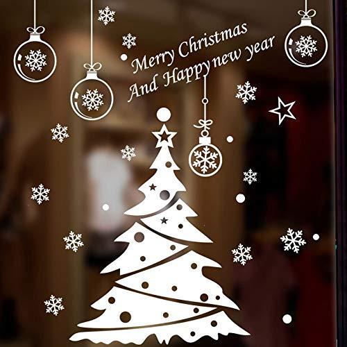 zhuziji Decoración del árbol de Navidad Ventanas de Vidrio ...
