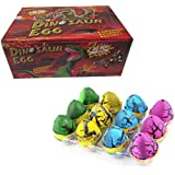 Ainic 12Pcs Cute Magic Hatching Growing Pet Dinosaur Eggs, Large Size Colorful Dino Eggs Toys for Kids