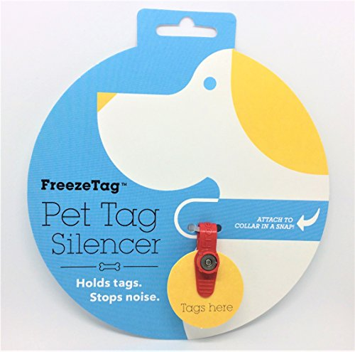 FreezeTag Dog Tag Silencer and Connector, Red