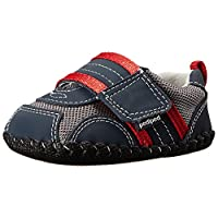 pediped Originals Adrian Sneaker (Infant),Navy/Grey/Red,Medium (12-18 Months)