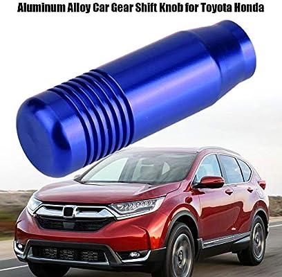 Aluminum Alloy Car Manual Gear Shift Knob Handle Shifter Head 8.5cm for Toyota Honda Black Gear Shift Knob