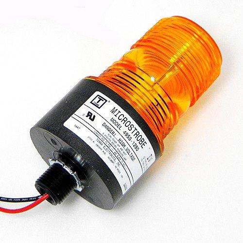 Tomar Electronics 495S-1280 MicroStrobe Single Flash 1/2' Male Thread Mount Strobe Amber 12 - 80VDC 495S-1280-A