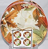 222 Fifth Harvest Festival Dessert/appetizer Plates - Set of 4 - 6 1/4'' by 222 Fifth