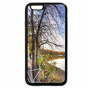 iPhone 6S Plus Case, iPhone 6 Plus Case, bicycle leaning on a tree by a rive hdr