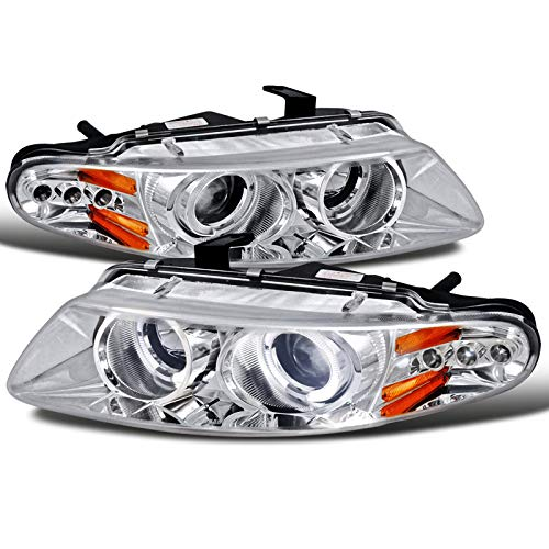 Velocity Concepts For Dodge Avenger Chrysler Sebring Coupe Chrome Clear Halo Led Projector Head Lights ()
