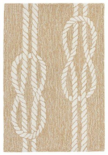 Liora Manne Monaco Sea Twine Indoor/Outdoor Rug, 20″ x 30″, Natural Review