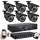 GW 8 Channel 4K NVR 8 Megapixel H.265 Video PoE Security Camera System – Six 8MP 2160P Weatherproof 2.7-13.5mm Varifocal UltraHD 4K IP Bullet Cameras, 196ft IR Night Vision, Pre-Installed 3TB HDD Review