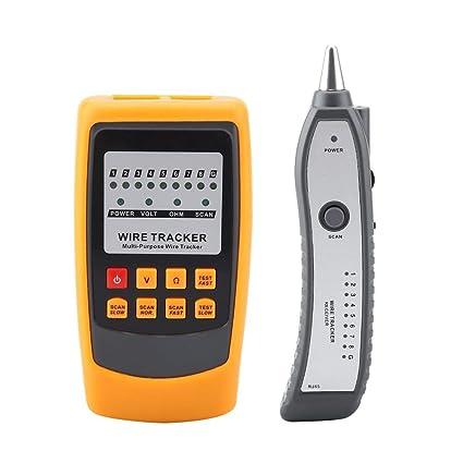 Akozon Comprobador de Cables de Red, Akozon GM60 Rastreador de cables para líneas telefónicas y