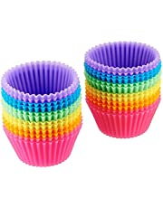 Amazon Basics Reusable, Silicone, Non-Stick Baking Cups Liners