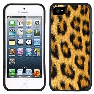 Leopard Animal Print Handmade iPhone 5 5S Black Case