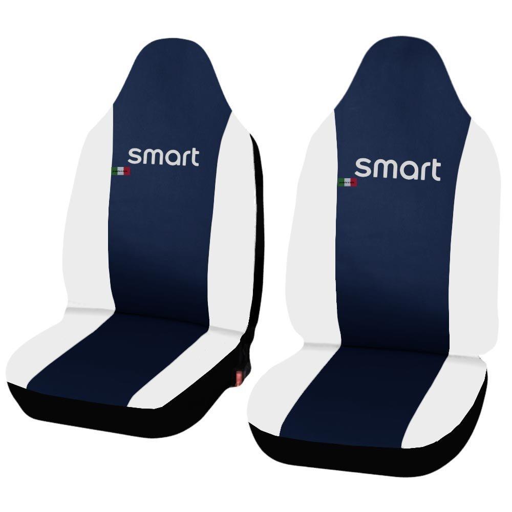 Lupex Shop Smart.2s.Ec/_B.Bi Funda Ajustable Para Asiento de Coche de Piel Sint/ética Color Azul//Blanco