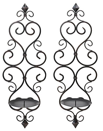 Zingz and Thingz Fleur-De-Lis Wall Sconce Duo (Set of 2) (Sconces Set Wall Decor)