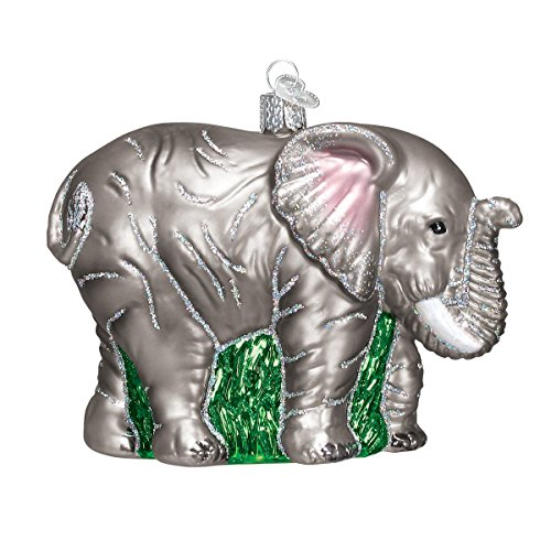 Old World Christmas Large Elephant Glass Blown Ornament