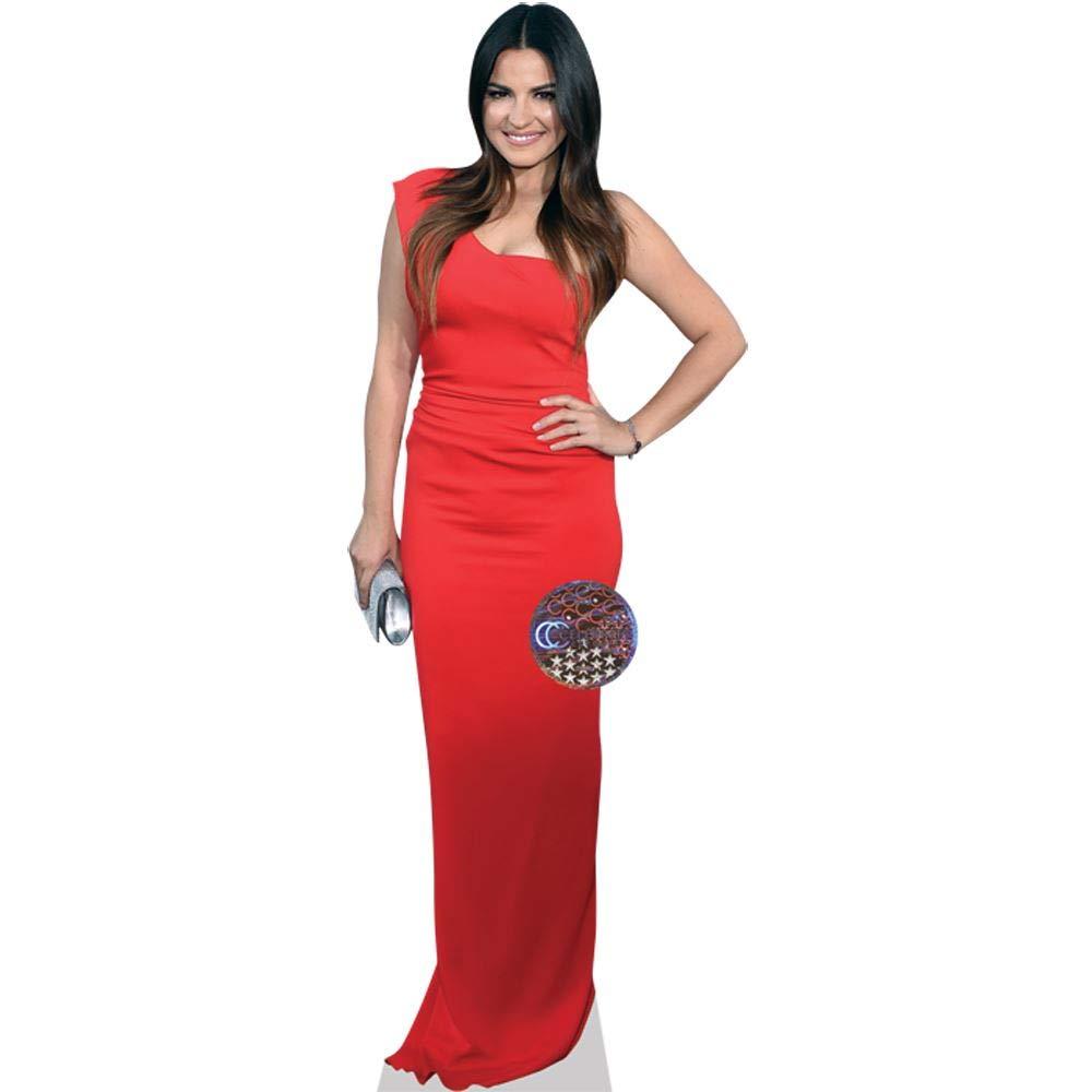 Life Size Cutout Mariah Carey Red Dress