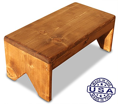 S.B. Handmade - Solid Wood Step Stool, 250 Pound Capacity, Hand Made in U.S.A. (18