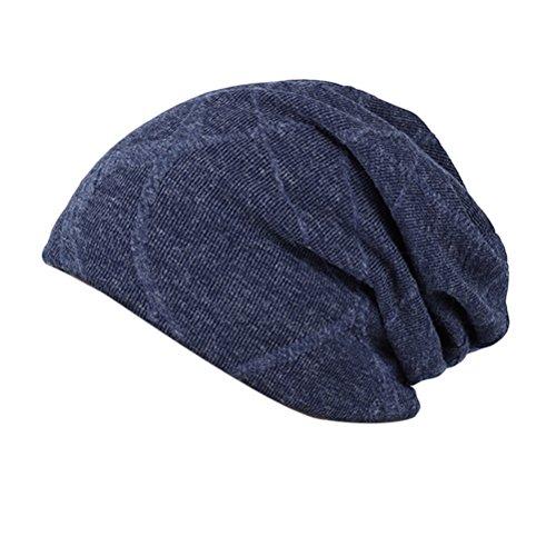 Men Women Libre Aire Cap blue Al Zhhlinyuan De Punto Slouchy Beanie Baggy Invierno Unisex Navy Thick Retro Sombreros Warm Lined Skull S6O5Exwq