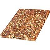 柚木切割板-矩形末端谷物肉块(24 x 18 x 1.5英寸)-由Teakhaus制造