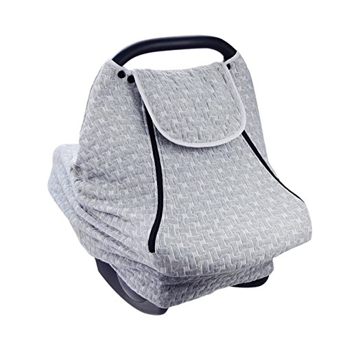 PROKTH Baby Stroller Gray Air Layer Mosquito Net, Sun Protection Sunshade Heat Insulation Cooling Polyester Cotton Cover Towel Sunshield by PROKTH (Image #7)