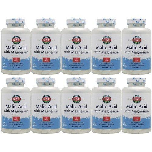【5個セット】リンゴ酸&マグネシウム 120粒[海外直送品] B075ZR8JZP 5個  5個