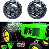 SXMA CREE LED Work Lights 4.5 inch 18W Round IP67 LED Working Lamps for Tractor (Pack of 2PCS) - LED6218