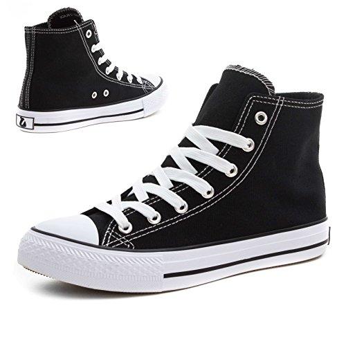 Chaussures Unisexe Classiques Baskets Hommes Montantes Basses Blanc Noir rarq5wxA