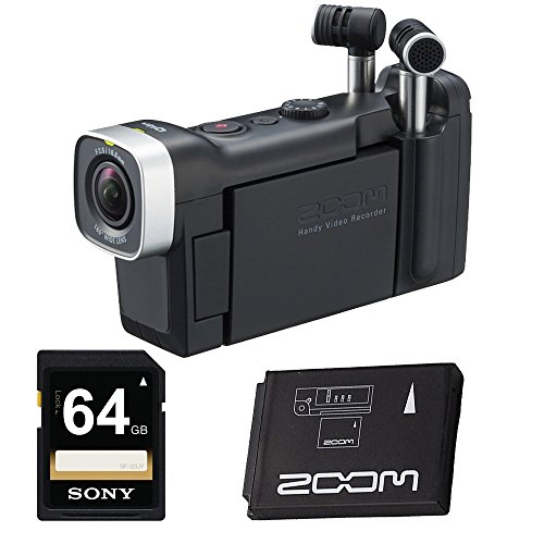 ZOOM Q4n Handy Video Recorder with 64GB SD Card,Zoom Rech...
