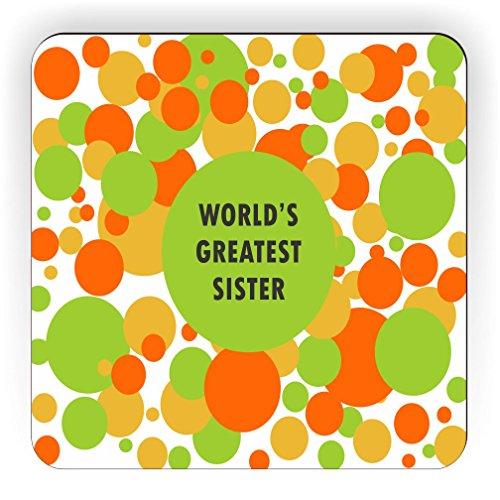 OG&Y World's Greatest Sister Square Fridge (Sister Fridge Magnet)