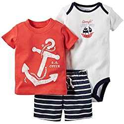 Pirates /& Anchors Unisex Baby Skull /& Crossbones Lt. Blue, 24 Months Black Baby /& Toddler T-Shirt Romper