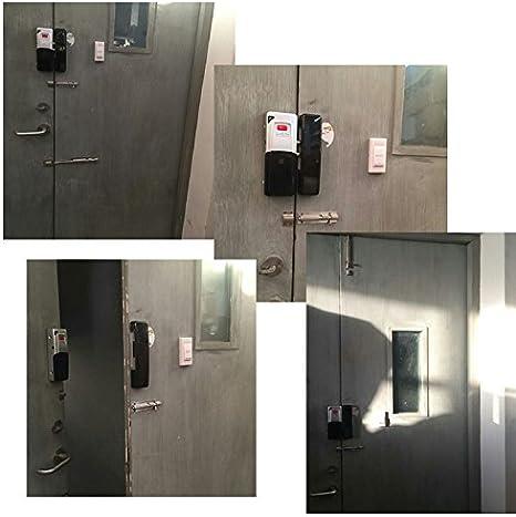 Inalámbrico Inteligente cerradura de la puerta eléctrica casa antirrobo Lock Bloqueo de seguridad para casa oficina escuela de banco con mando a distancia apertura: Amazon.es: Bricolaje y herramientas