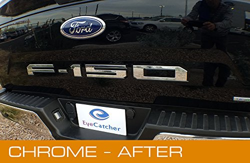 Ford F150 Chrome Accessories - EyeCatcher Tailgate Insert Letters for 2018-2019 Ford F150 (Chrome)