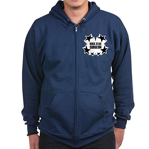 CafePress Rock Star Surgeon - Zip Hoodie, Classic Hooded Sweatshirt With Metal Zipper (Rock Star Zip Sweatshirt)