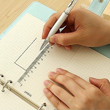 A6 A5 A7 B5 Ordner Lineal Organizer zum Einschieben aus Kunststoff Lineal A7 schwarz Ordner Lesezeichen