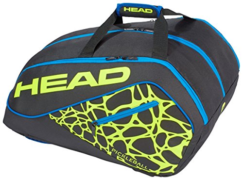 HEAD Tour Team Supercombi Pickleball Paddle Bag (Black/Neon Yellow/Blue)
