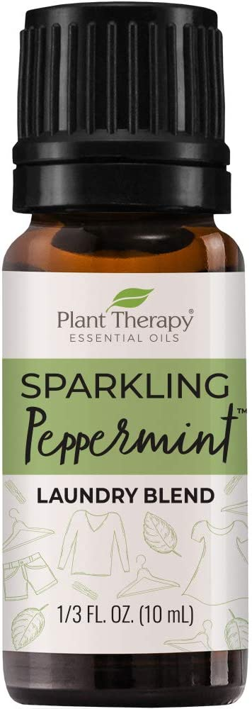 Plant Therapy Sparkling Peppermint Laundry Essential Oil Blend 10 mL (1/3 oz) Pure, Undiluted, Wash Fragrance and Scent Enhancer