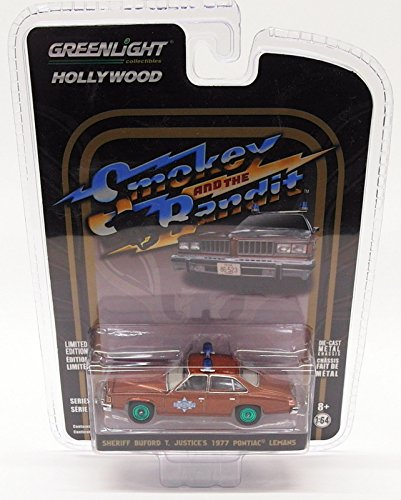 (Greenlight 1:64 Hollywood Series 18 - Smokey and The Bandit - Sheriff Buford T Justice's 1977 Pontiac Lemans)